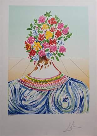 Dali Retropective The Flowering of Inspiration Hand