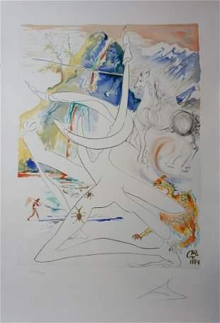Dali Conquest of Cosmos The Laser Unicorn Disintegrates