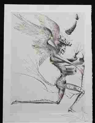 Dali La Venus Aux Fourrures The Winged Demon Hand