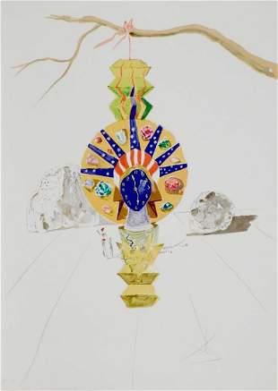 Dali Time American Clock Hand Signed Lithograph Dali