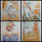 Dali Retrospective Complete Suite 4 Pieces Hand Signed
