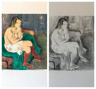 Raphael Soyer Nude Woman in Red Stockings Portfolio