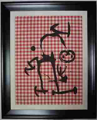 Joan Miro L Illetre aux Carreaux Rouges