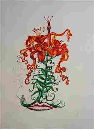 Salvador Dali Florals Tiger Lillies
