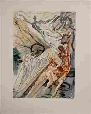 Salvador Dali Divine Comedy Purgatory  Canto 26 Decomp
