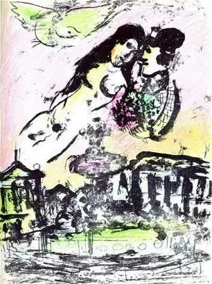 Marc Chagall Le Ciel de la Place de la Concorde M.393