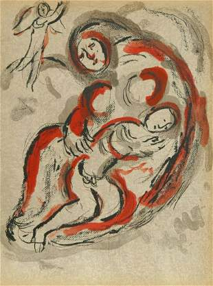 Marc Chagall Hagar in The Desert from Drawings From The