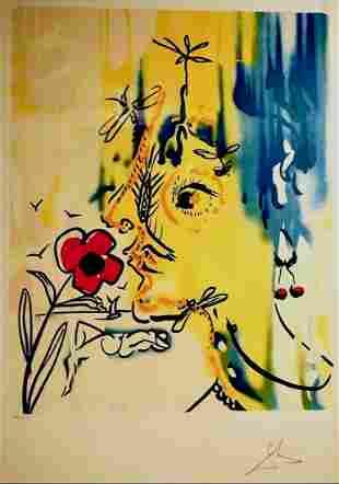 Salvador Dali Fleurs Surrealiste Vanishing Face