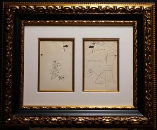 Salvador Dali Original Pen & Ink Drawing from The Book