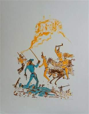 Warrington Colescott A Wild West: Custards Last Stand