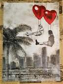 Mr. Brainwash Love is in The Air Miami