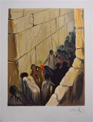 Salvador Dali Aliyah The Wailing Wall