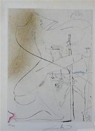 Salvador Dali La Venus aux Fourrures Woman With Crutch
