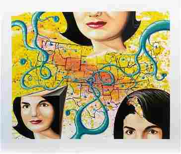 Kenny Scharf Three Faces of Jackie The American