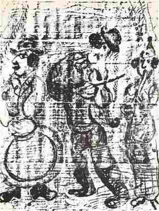 Marc Chagall The Wandering Musicians M. 396