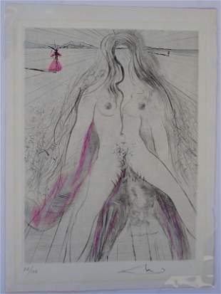 Salvador Dali La Venus aux Fourrures Woman on Horse