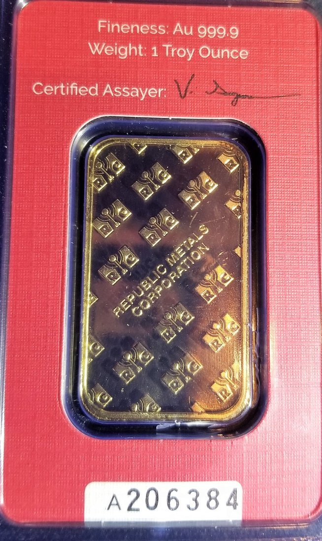 1oz  Pure 99.99 Gold Bar