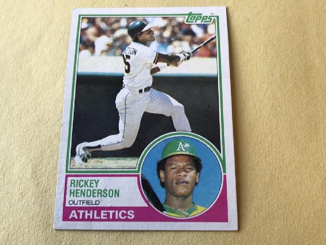 Rickey Henderson 1983 Topps Baseball Card
