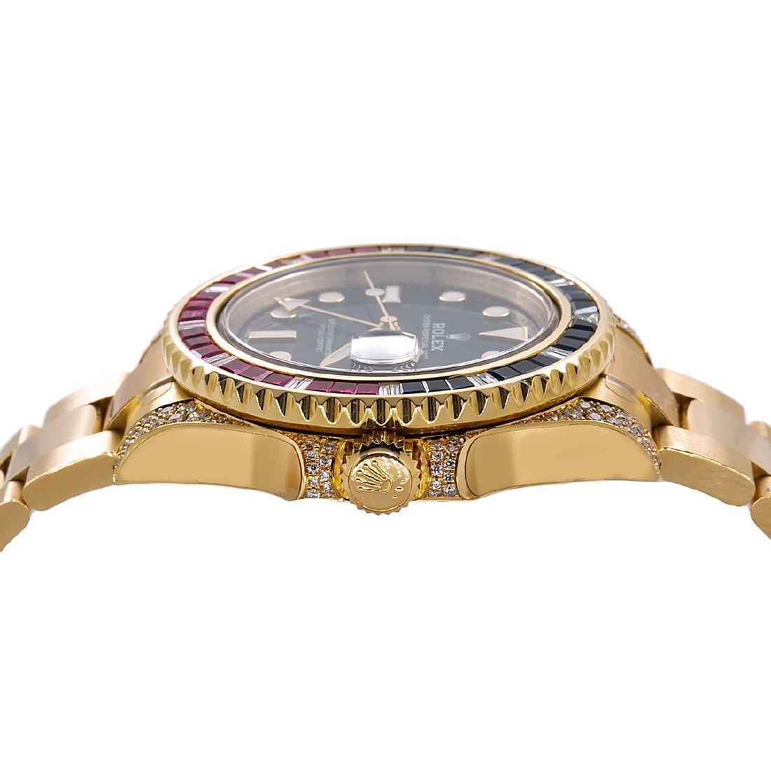 18K YELLOW GOLD ROLEX GMT MASTER II 116718 40MM BLACK - 4