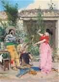 """JOSÉ VILLEGAS Y CORDERO (1844/48-1921). """"Flamenco"""