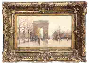 """EUGÈNE GALIEN-LALOUE (1854-1941). """"ARC DE TRIOMPHE,"""