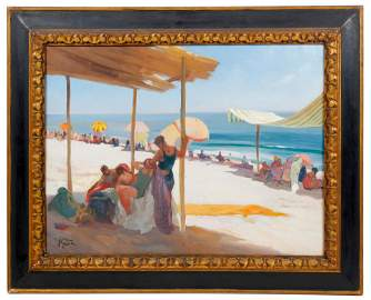 "LLUIS MASRIERA (1872-1958) ""BAJO LA PÉRGOLA"", 1932."