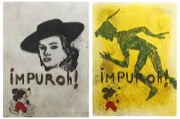 """CARLOS PAZOS (1949). """"IMPURO I y II""""."""