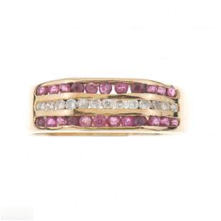 RUBIES AND DIAMONDS RING.