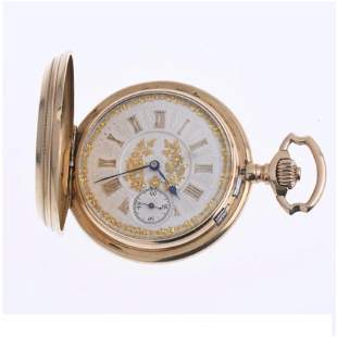MEN'S GOLD POCKET WATCH, 19TH CENTURY.