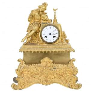 FRENCH TABLE CLOCK, 19TH - 20TH CENTURY.