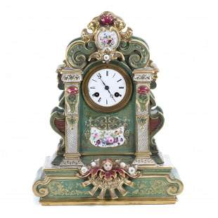 FRENCH TABLE CLOCK, LATE 19TH C. - EARLY 20TH CENTURY.