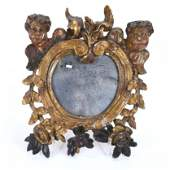 SMALL BAROQUE STYLE WALL MIRROR, EARLY 20TH CENTURY.