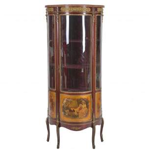 FRENCH TRANSITION-STYLE DISPLAY CABINET, LATE 19TH