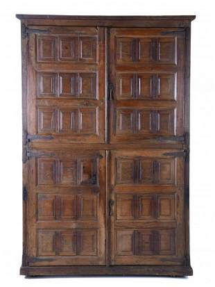 CASTILIAN TWO-BODY WARDROBE, 18TH CENTURY WITH LATER