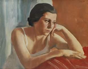 """ALFREDO SISQUELLA ORIOL (1900-1964). """"FIGURE (PORTRAIT"""