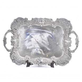 BARCELONA SILVER TRAY, SECOND THIRD OF THE 20TH