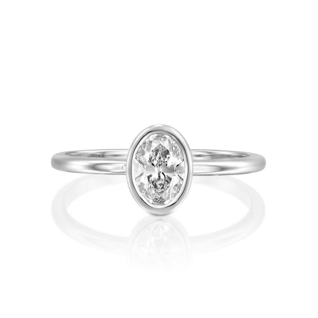 1 CT 14K White Gold Diamond Ring