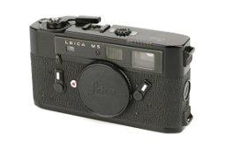 A Leica M5 Black Paint Rangefinder Body,