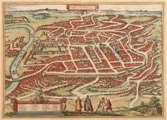 A 16th Century Map of Vilnius, Lithuania,