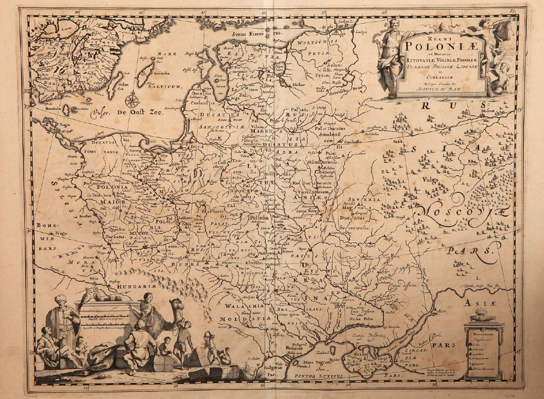A 17th Century Map of Poland, lithuania, Ukraine,