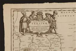 One of the Earliest Printed Maps of Ukraine,