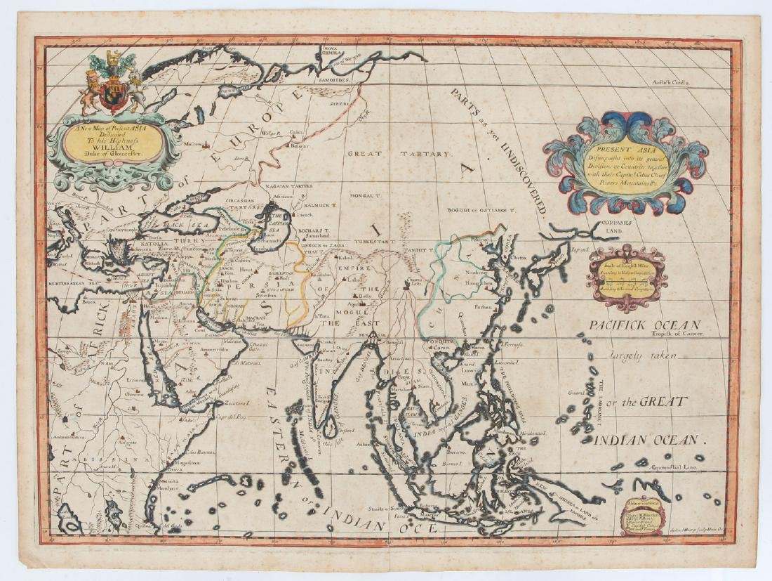 A Map of Asia, Edward Wells,