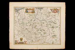 A Very Decorative Map of Poland with two Cartouches and
