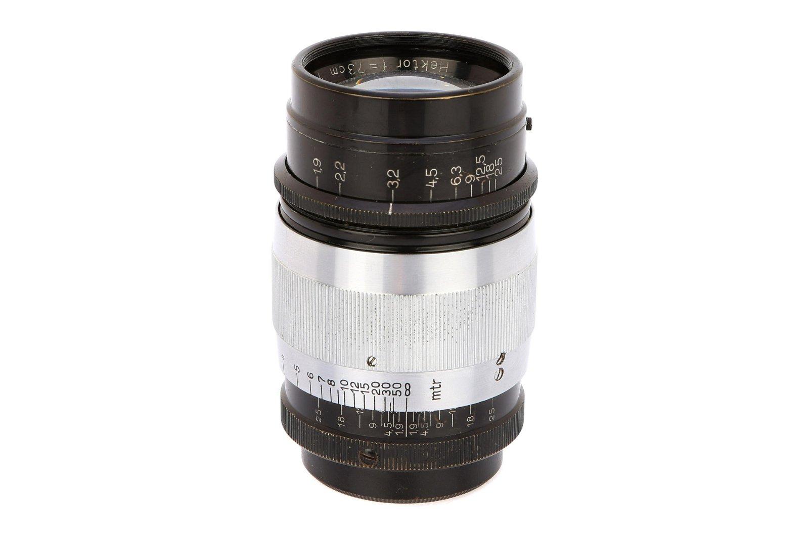 * A Leitz Hektor f/1.9 73mm Lens,