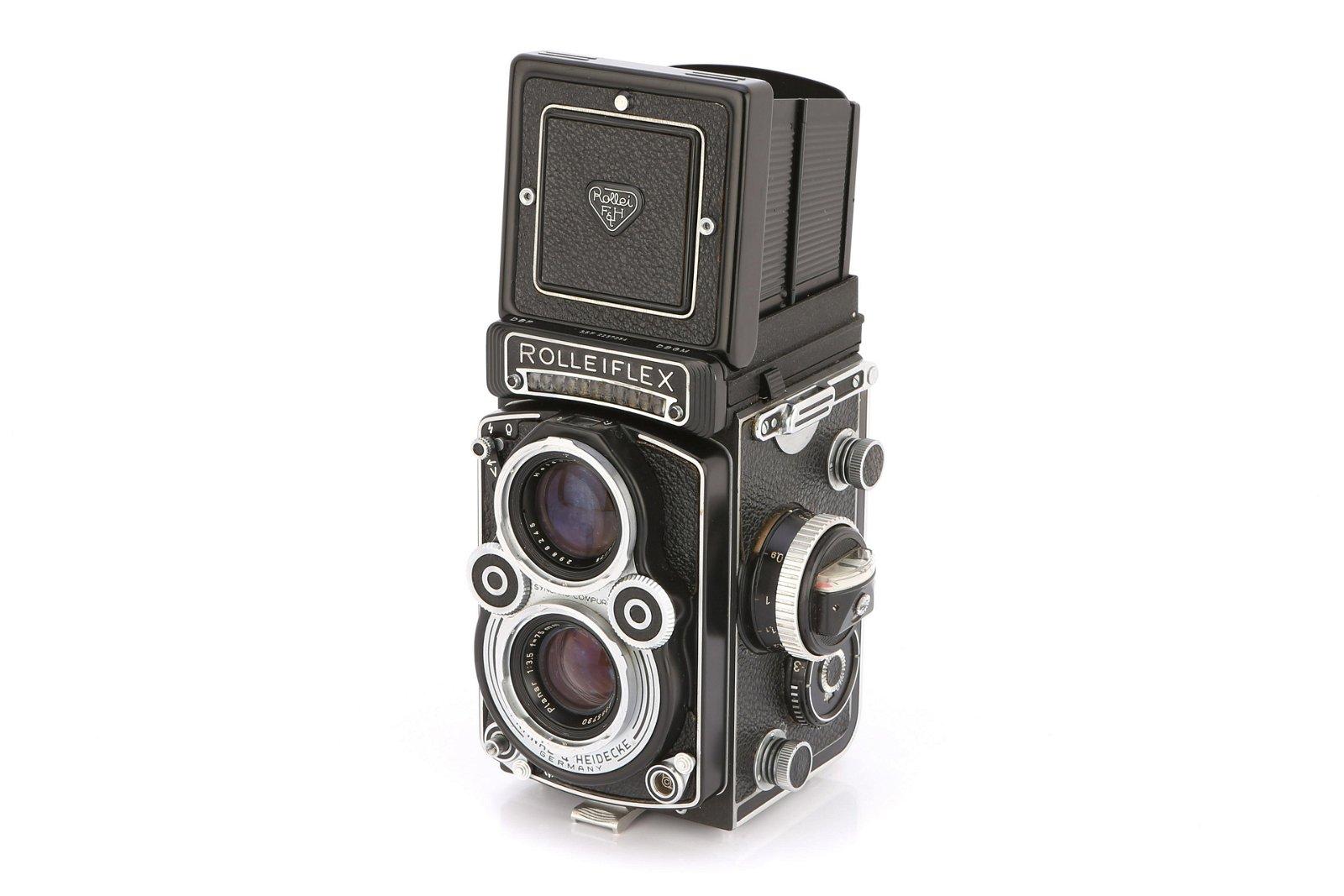 * A Rollei Rolleiflex 3.5F (K4E) TLR Camera,
