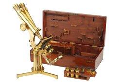 A Smith & Beck Best No.1 Portable Binocular Microscope,