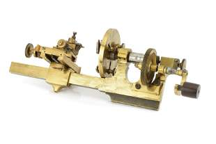 A Geared, Late 19th Century Watchmakers Lathe,