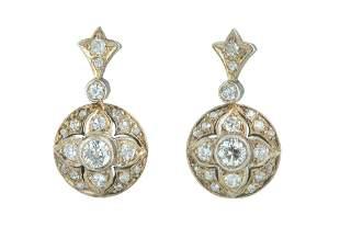 A pair of Victorian diamond earrings.