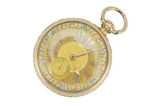 A George IV Irish 18ct gold pocket watch.