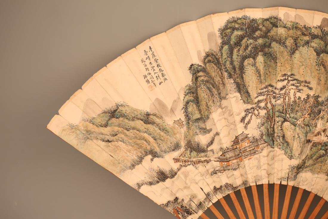 A Chinese Painting on Folding Fan - 3